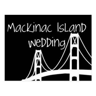 Mackinac Island Wedding Postcard