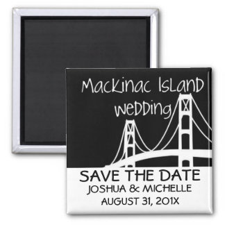 Mackinac Island Wedding Save The Date 2 Inch Square Magnet