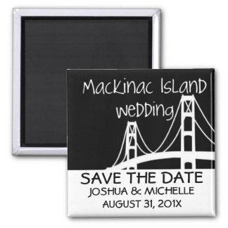 Mackinac Island Wedding Save The Date Magnet