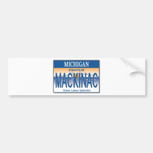Mackinac License Bumper Sticker