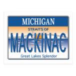 Mackinac License Postcard