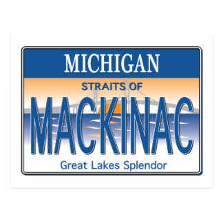 Mackinac License Postcard