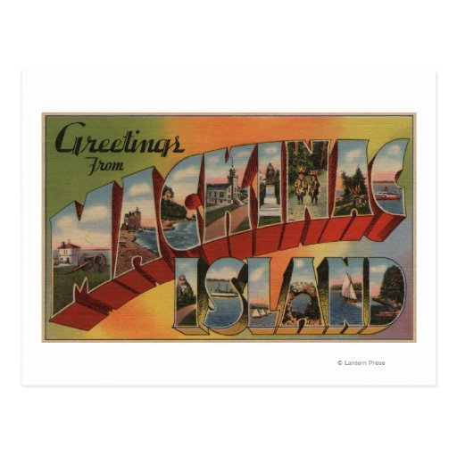 Mackinac, Michigan - escenas grandes de la letra Postal