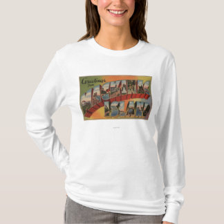 Mackinac, Michigan - Large Letter Scenes T-Shirt