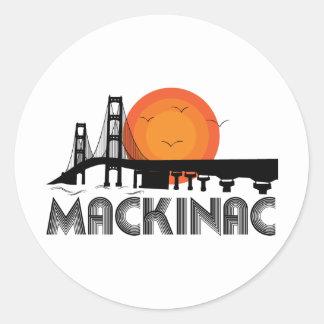 Mackinac Etiqueta Redonda