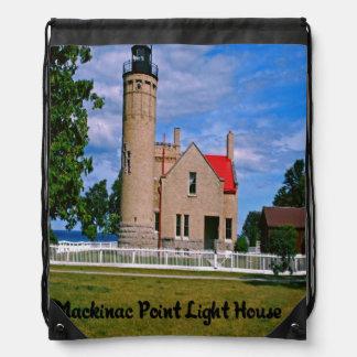 Mackinac Point Light House Cinch Bag