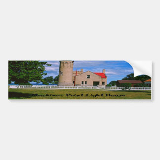 Mackinac Point Light House Michigan Bumper Sticker