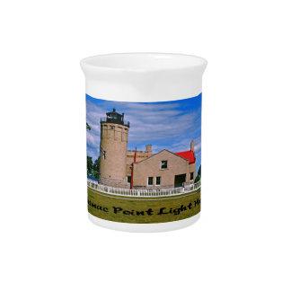 Mackinac Point Light House Michigan Pitcher