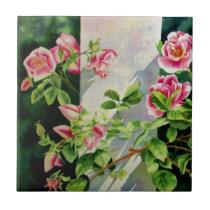 Mackinac Rose 1 Ceramic Tile
