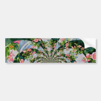 Mackinac Rose mandala Bumper Sticker