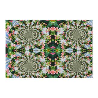 Mackinac rose Mandala Canvas Print
