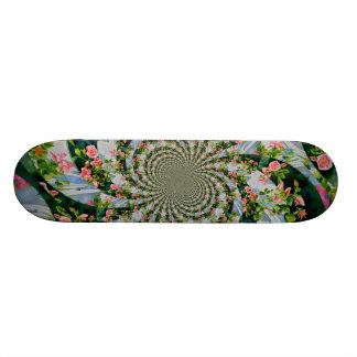 Mackinac Rose mandala Skateboard