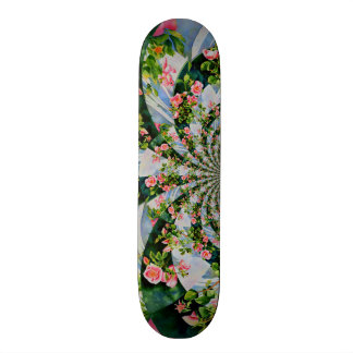 Mackinac Rose mandala Skateboard Deck