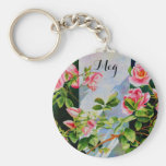 Mackinac Rose - Monogram Keychain