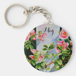 Mackinac Rose - Monogram Keychain
