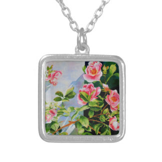 Mackinac Rose Silver Plated Necklace