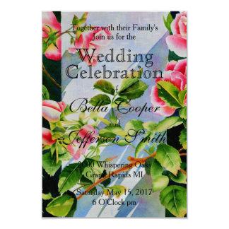Mackinac Rose Wedding Card