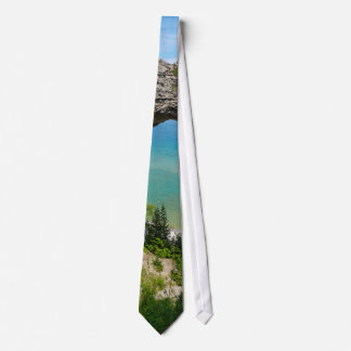Mackinacs Arch Rock Tie