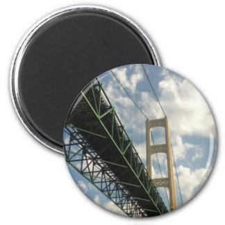 Mackinaw Bridge 2 Inch Round Magnet
