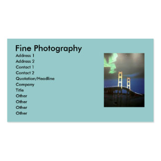 Mackinaw Bridge Buisness Cards Double-Sided Standard Business Cards (Pack Of 100)