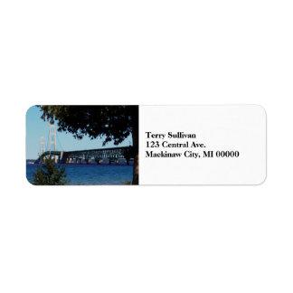 Mackinaw Bridge Label