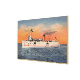 Mackinaw City, MI - View of City of Cheboygan Canvas Print