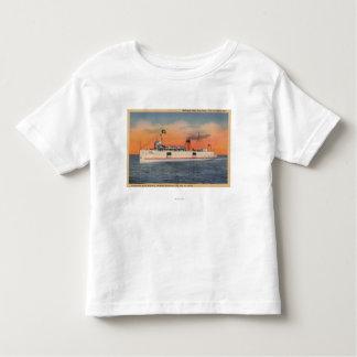 Mackinaw City, MI - View of City of Cheboygan Toddler T-shirt