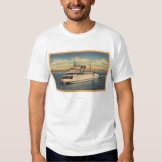Mackinaw City, MI - View of City of Petoskey T-Shirt