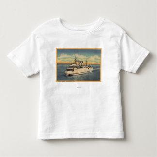 Mackinaw City, MI - View of City of Petoskey T Shirt