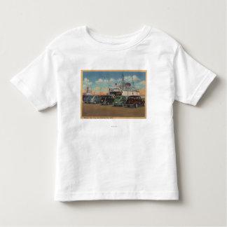 Mackinaw City, MI - View of MI State Ferry Dock T Shirt