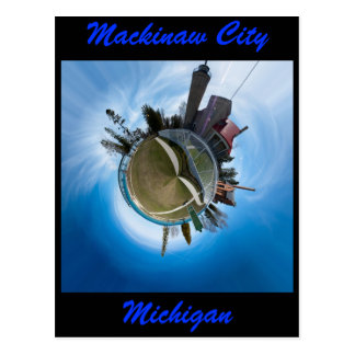 Mackinaw City Michigan Planet Post Cards