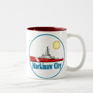 Mackinaw City Michigan Two-Tone Coffee Mug