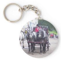 Mackinaw Island Series Keychain