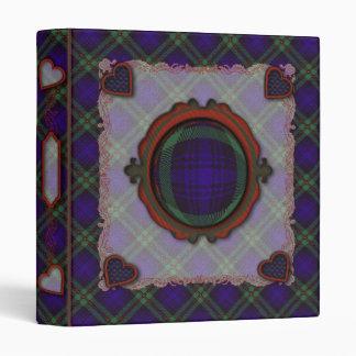 Mackinlay Scottish clan tartan 3 Ring Binder