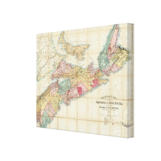 Mackinlay's map of the Province of Nova Scotia 2 Canvas Print
