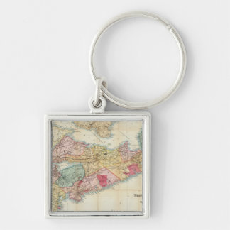 Mackinlay's map of the Province of Nova Scotia 2 Keychain