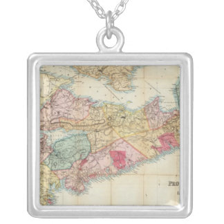 Mackinlay's map of the Province of Nova Scotia 2 Square Pendant Necklace