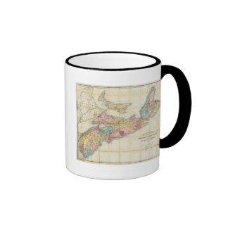 Mackinlay's map of the Province of Nova Scotia 2 Coffee Mugs