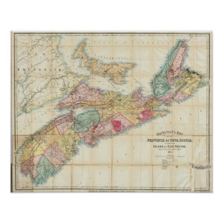 Mackinlay's map of the Province of Nova Scotia 3 Poster
