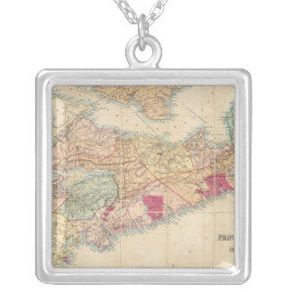 Mackinlay's map of the Province of Nova Scotia 3 Silver Plated Necklace