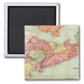 Mackinlay's map of the Province of Nova Scotia 4 2 Inch Square Magnet