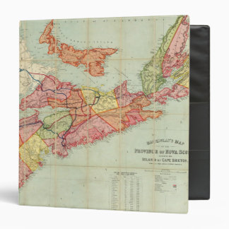 Mackinlay's map of the Province of Nova Scotia 4 Binders