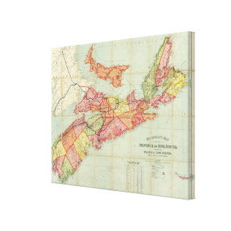 Mackinlay's map of the Province of Nova Scotia 4 Canvas Print