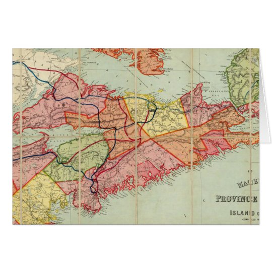 Mackinlay's map of the Province of Nova Scotia 4 Card