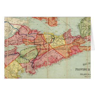 Mackinlay's map of the Province of Nova Scotia 4 Greeting Card