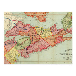 Mackinlay's map of the Province of Nova Scotia 4 Postcard