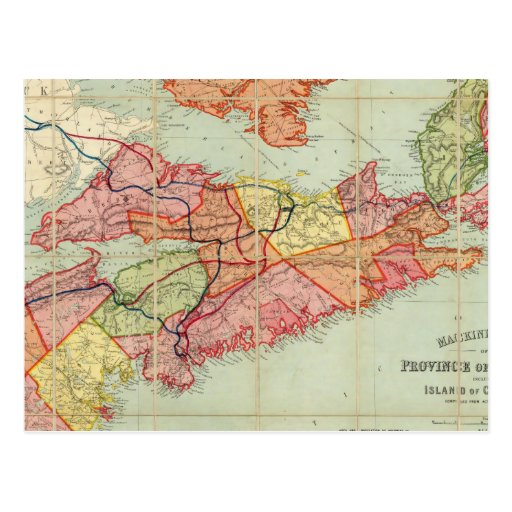 Mackinlay's map of the Province of Nova Scotia 4 Post Cards