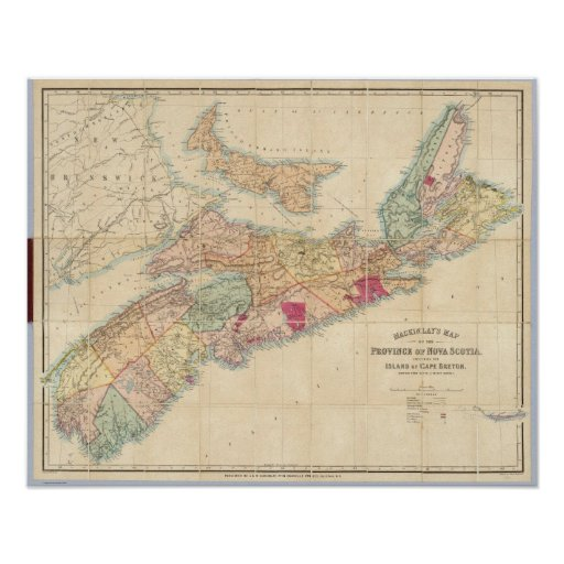 Mackinlay's map of the Province of Nova Scotia 4 Poster