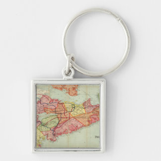Mackinlay's map of the Province of Nova Scotia 4 Silver-Colored Square Keychain
