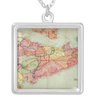 Mackinlay's map of the Province of Nova Scotia 4 Square Pendant Necklace